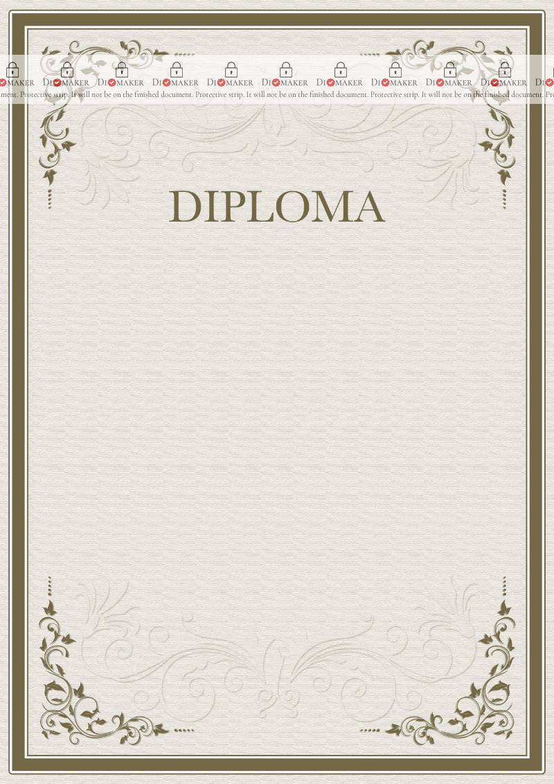 Diploma template «Severity of patterns»