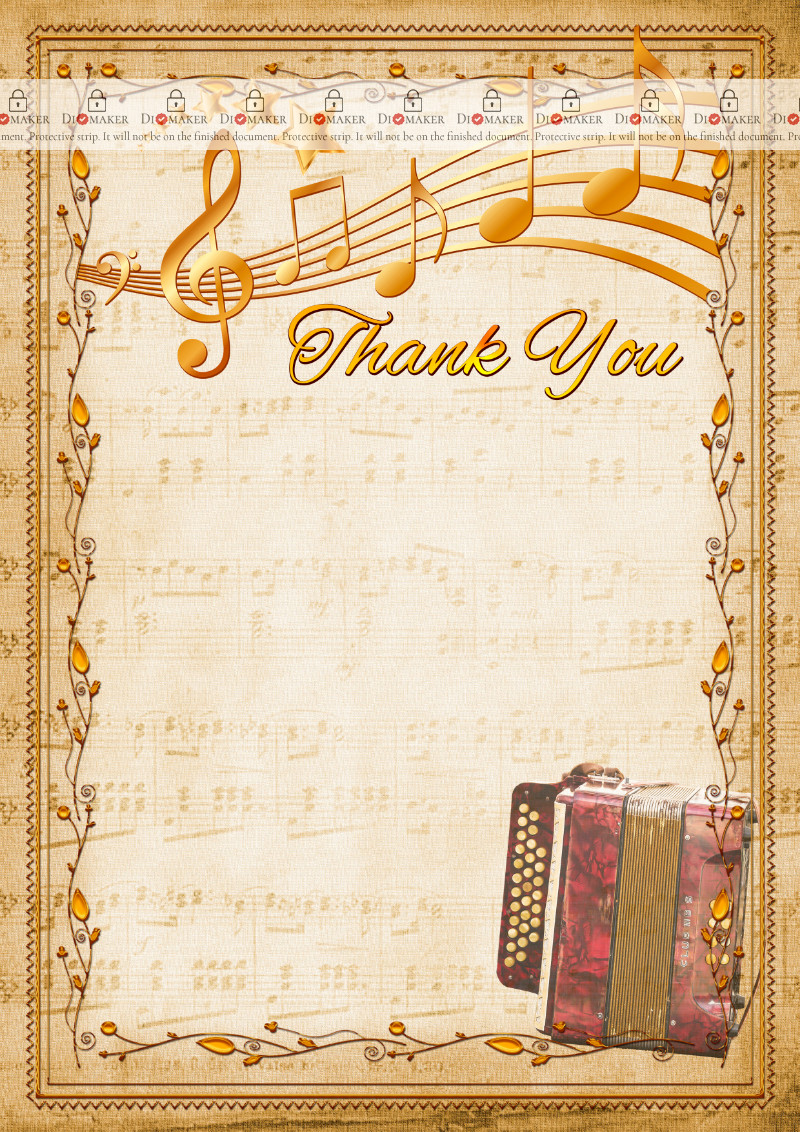 Thank You Card template «Harmonic»