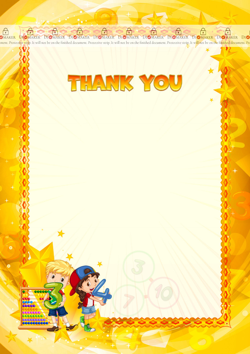 Thank You Card template «Mental arithmetic»