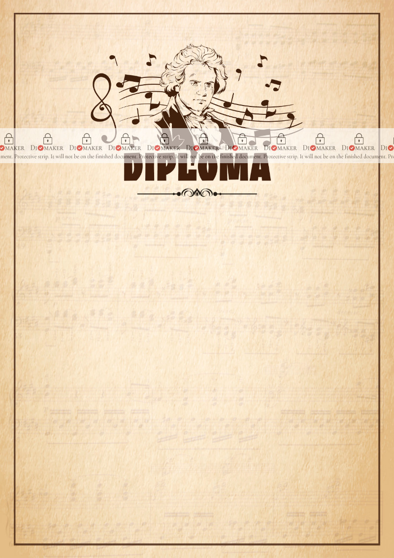 Diploma template «Beethoven»