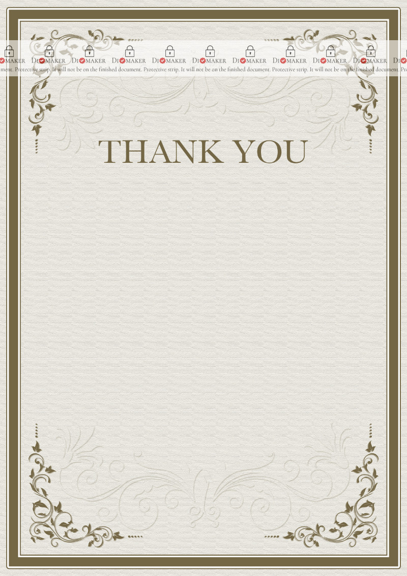 Thank You Card template «Severity of patterns»