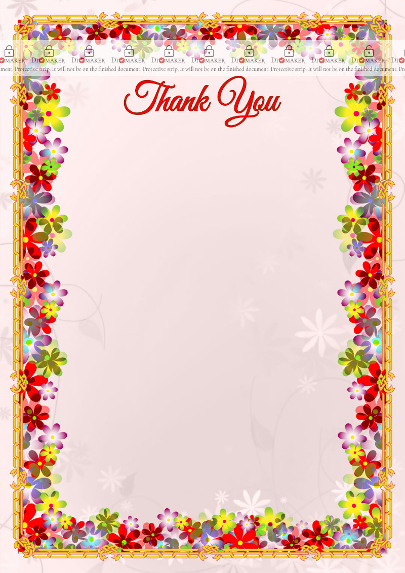 Thank You Card template «Spring flowers»