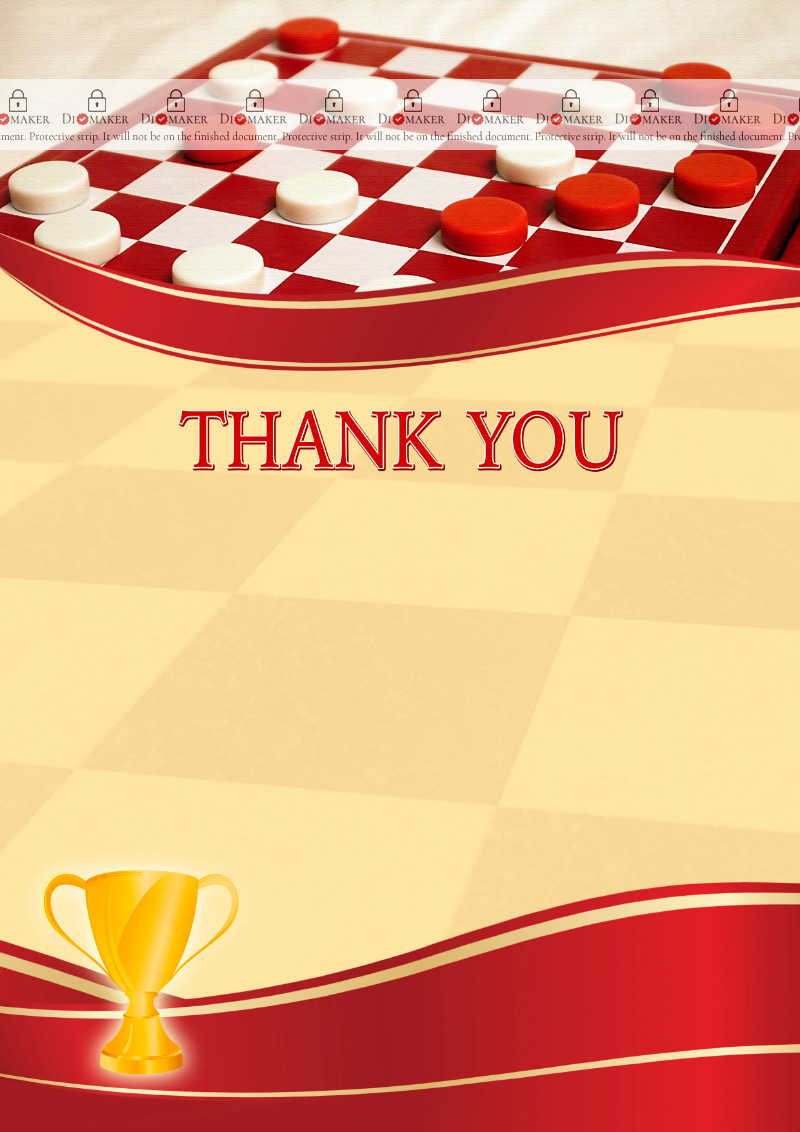 Thank You Card template «Checkers»
