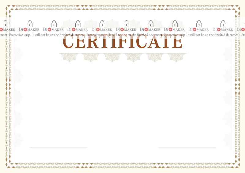 Certificate template «Plot»